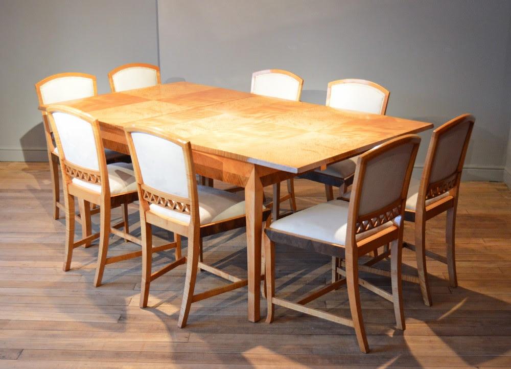 Art Deco Dining Table \u0026 8 Chairs  276834  Sellingantiques.co.uk