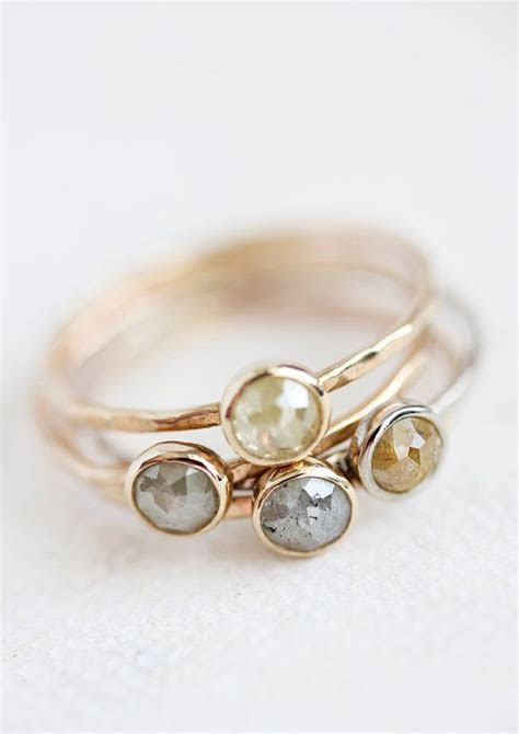 25  best ideas about Diamond Stacking Rings on Pinterest