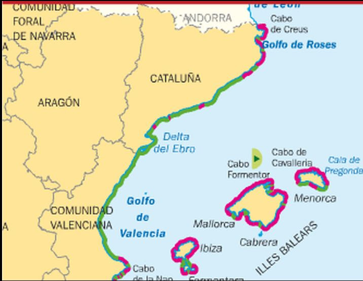 Cabo De Palos Mapa España.Cabo De Palos Mapa Fisico Mapa