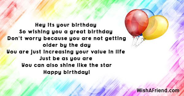 Humorous Birthday Sayings