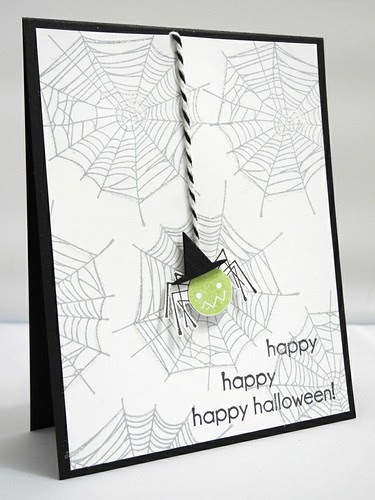 Witchy Spider Halloween Card
