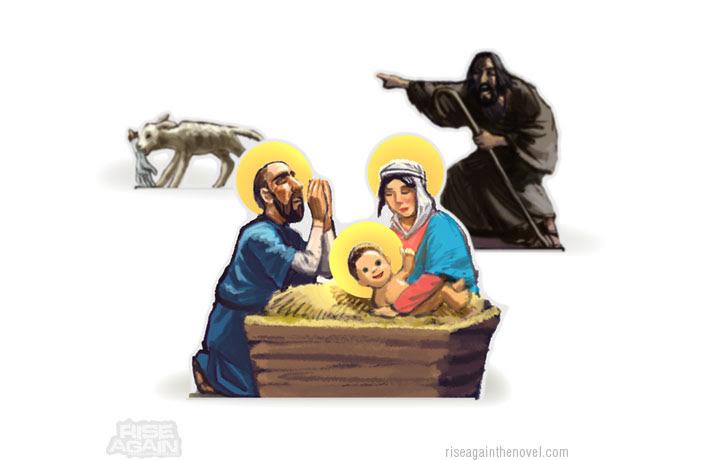 http://zombiechristmas.org/img/posts/zombie-lamb-jesus-mary-joseph-shepard.jpg