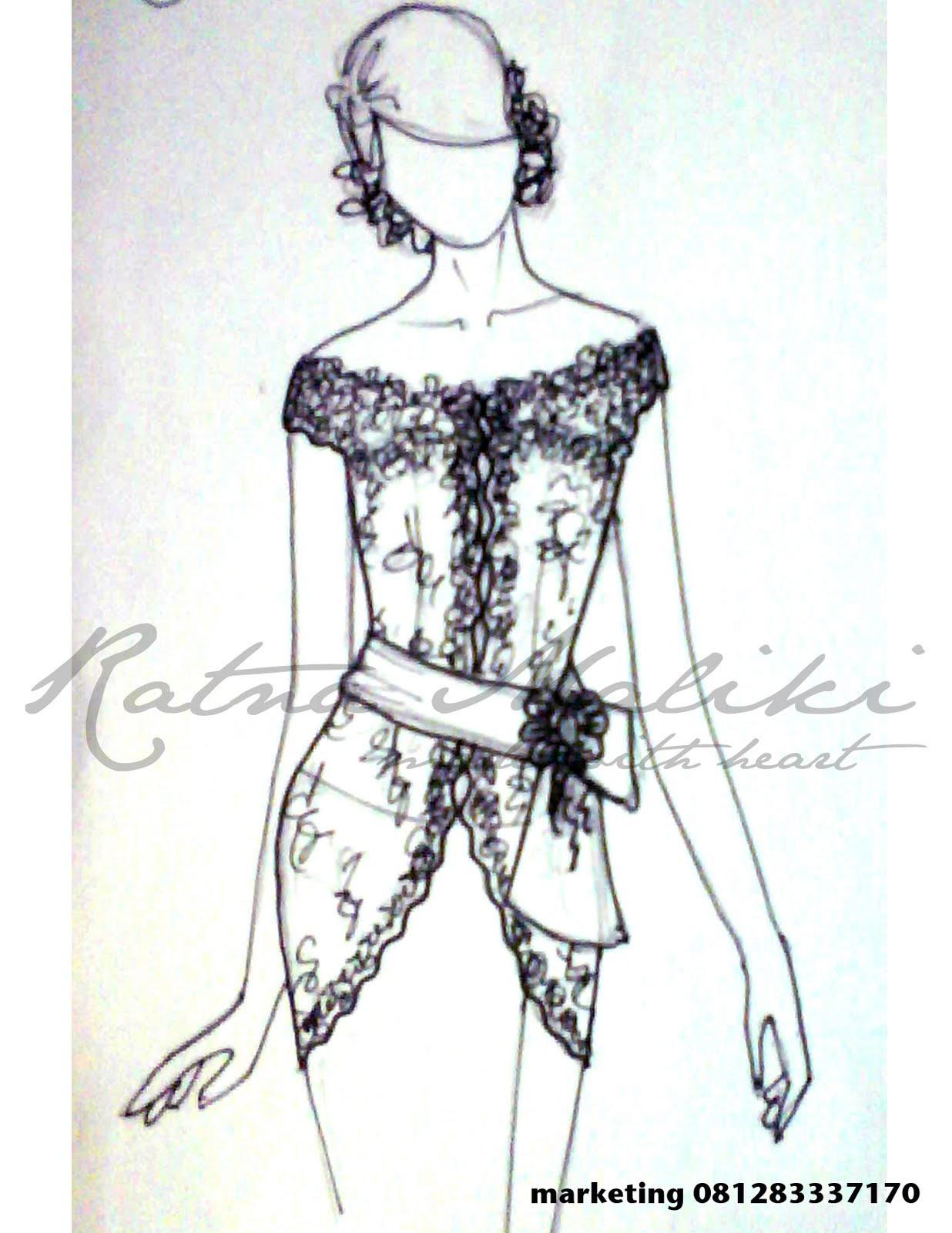 Koleksi Gambar Desain Sketsa Baju Dress Pendek Terbaru