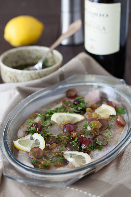 Flounder with Grapes 1