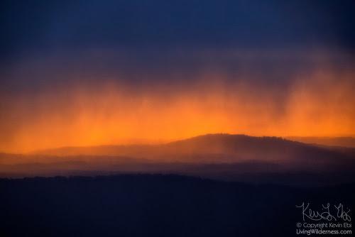 Rainstorm over Hogwallow Flats, Shenandoah National Park, Virginia
