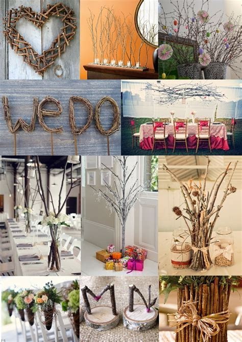Memorable Wedding: Natural Twig Wedding Decorations