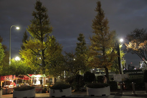 Stalls outside Yoyogi Park