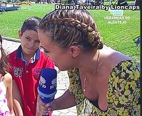 Diana Taveira sensual na Rtp a fazer reportagens