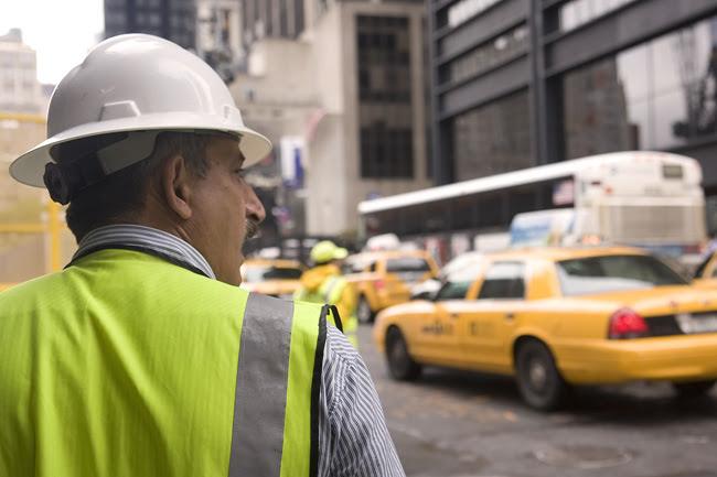 At work, lower Manhattan