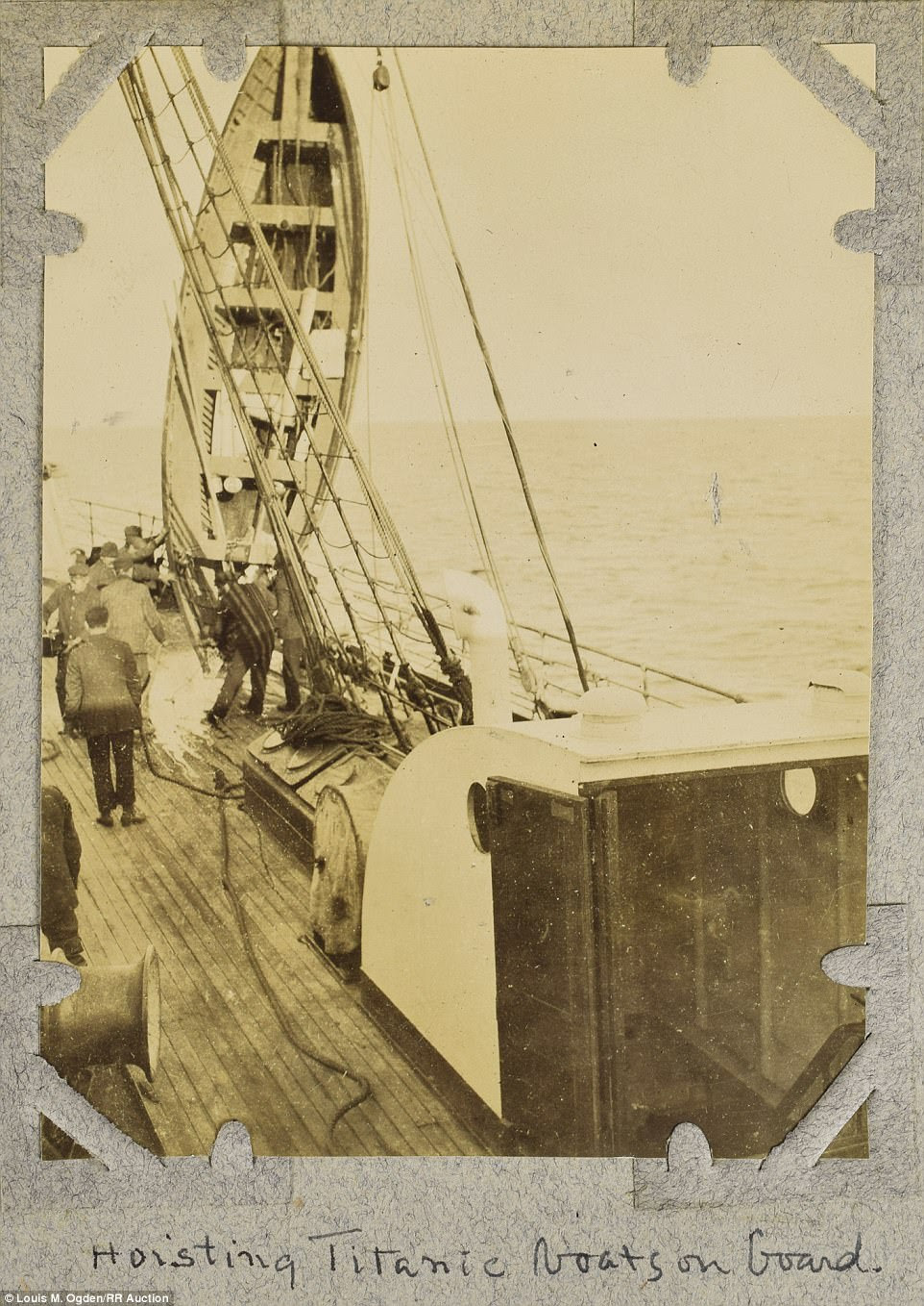 Mr Ogden bought a new camera for the trip, and used it to document the Titanic rescue