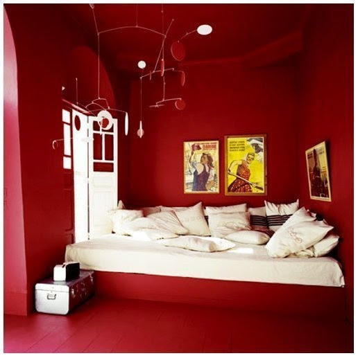 I am obsessed with the idea of having a red room in my house