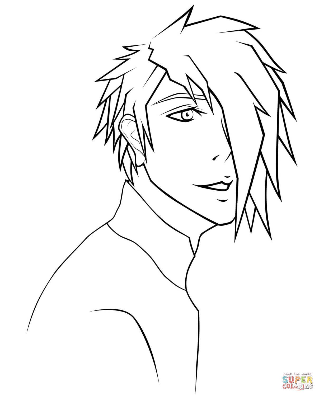 Rj Anime Boy Portrait by Sugarcoatedlollipops coloring ...