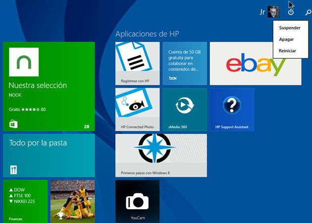 ¿Qué formas conoces de apagar tu PC con Windows 8?