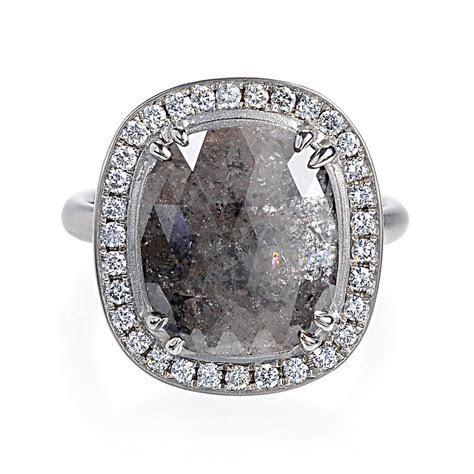 Greenwich Jewelers   Anne Sportun Cushion Cut Grey Diamond