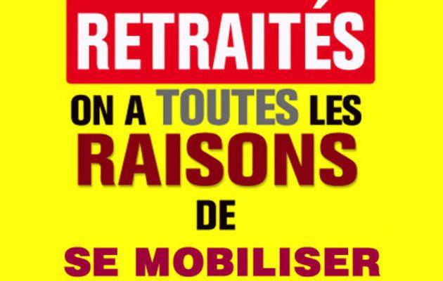 Pensions bloquées, hausse de la CSG...RETRAITÉS, MOBILISONS-NOUS ! L'exemple de Béthune dans le Pas-de-Calais
