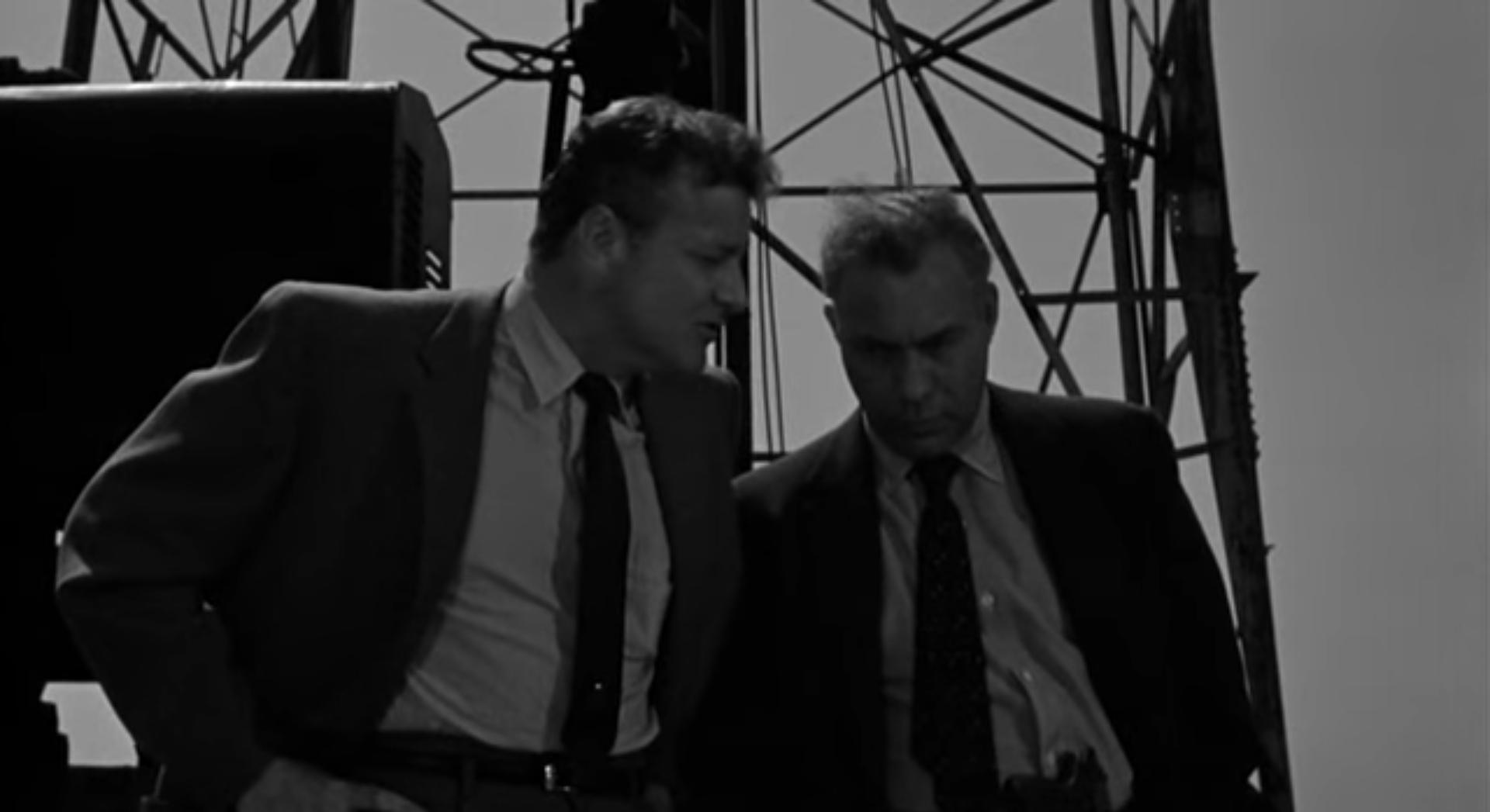 Image result for nightfall 1957 vanning talks to fraser