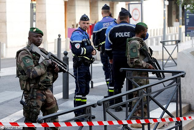 The assailant was gunned down by soldiers who were on patrol inside Saint Charles train station at the time as part of France's ongoing state of emergency