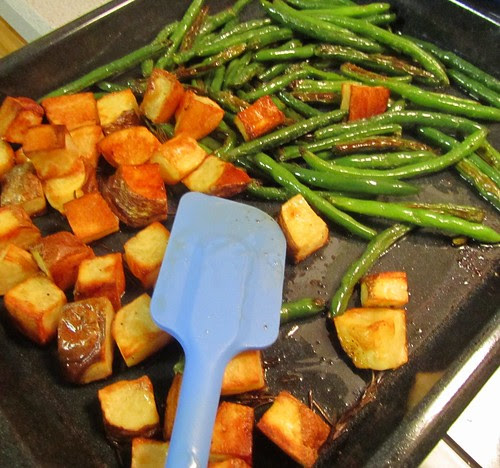 Roasted Potatoes & Green Beans