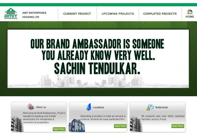 Amit Enterprises Housing Ltd. and Sachin Tendulkar