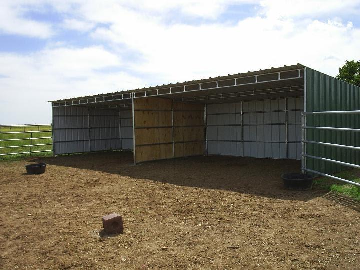 Sheds Ottors Plans For Horse Loafing Sheds