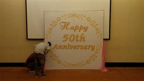50th wedding anniversary decorations in low budget in
