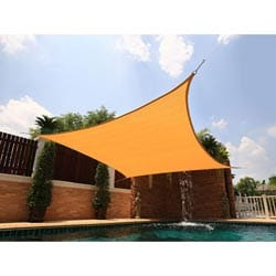 Medium Square Yellow Sail Sun Shade