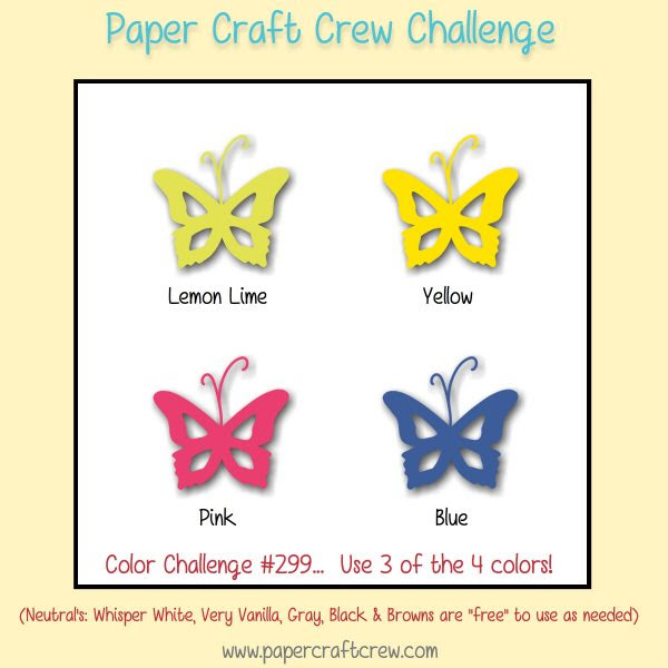 Paper Craft Crew Color Challenge 298! Play along with the latest challenge by visiting www.papercraftcrew.com