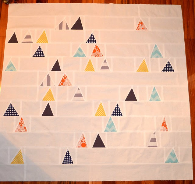 Triangle quilt top - Riley Blake MQG Challenge