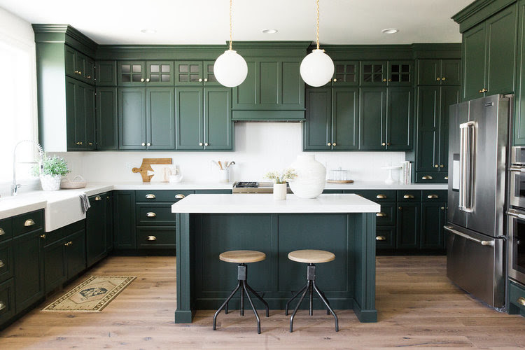 25 Best Pictures Of Green Kitchen Cabinets