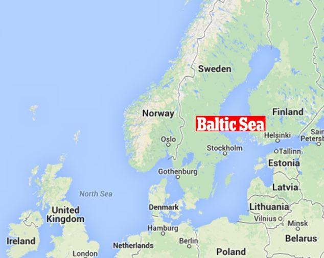 Águas internacionais: o encontro teve lugar no Mar Báltico. O incidente foi o último de uma série de encontros entre forças britânicas e russas