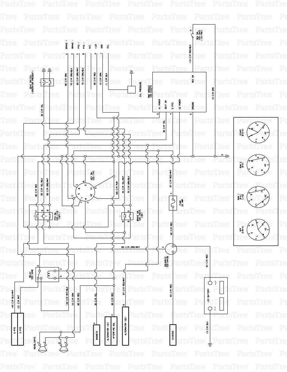 Cub Cadet Lt1050 Wiring Diagram