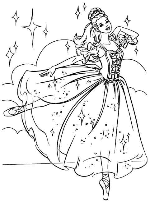 Coloriage Barbie Coeur De Princesse Ancenscp