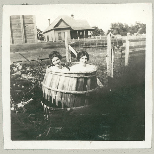 In a barrel