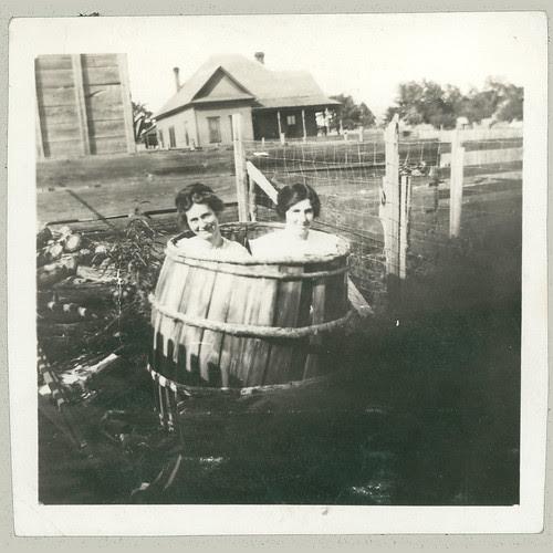 In a barrel