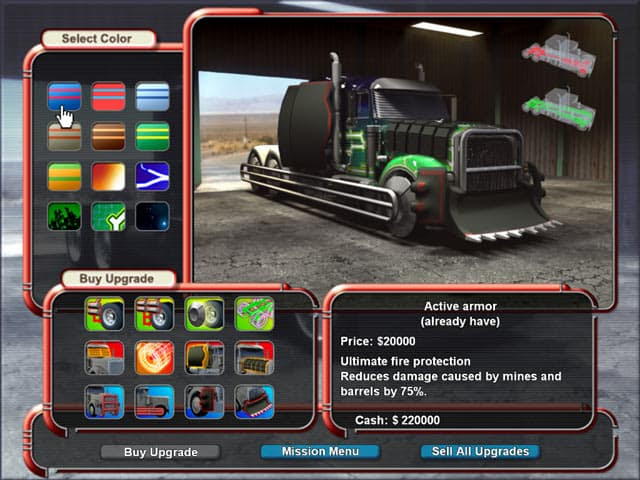 Mad Truckers Free PC Game Screenshot