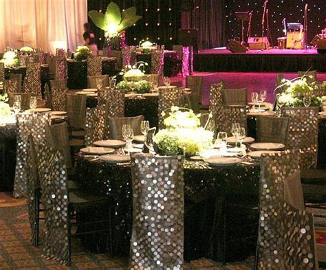 Silver BLING Wedding Decoration Ideas   Table Glamour