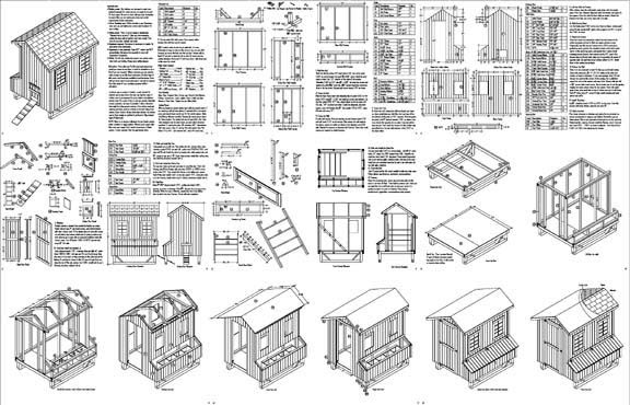 5 x6 saltbox style chicken poultry coop plans most popular for Most popular house plans 2015