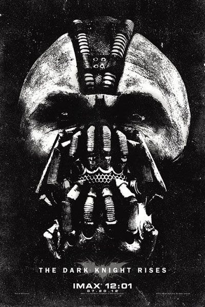 The exclusive Bane poster that will be handed out for midnight IMAX screenings of THE DARK KNIGHT RISES on July 20.