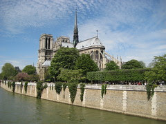 View of La Cathédrale Notre Dame de Paris from the South East