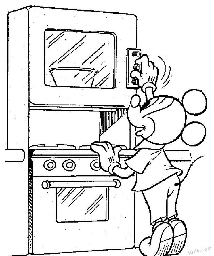 40dkcom Mickey Mouse Boyama Sayfası 458 40dk Eğitim Bilim