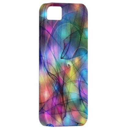 rainbow glowing lights iPhone 5 cover