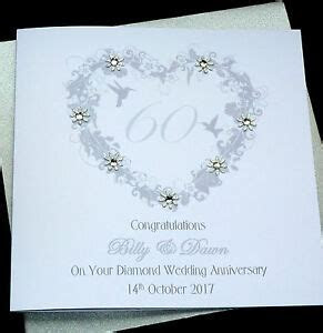Personalised Handmade Diamond / 60th Wedding Anniversary