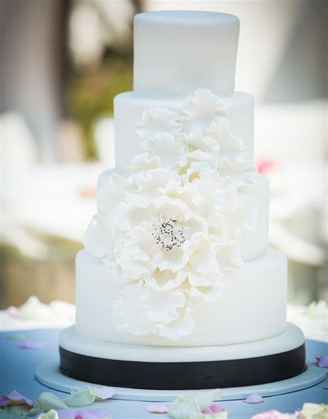 Surprise . . . it's an Elegant Confetti Wedding Cake with