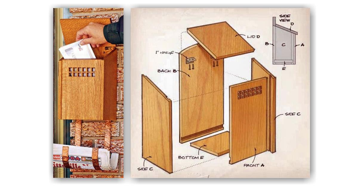 Woodworking Wooden Mailbox Plans Woodarchivist