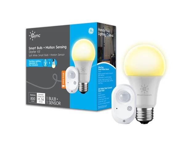 Cync by GE 93129715 Smart Bulb & Motion Sensing Starter Kit for $41