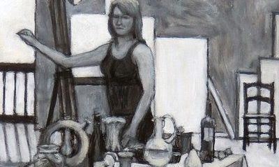 """Self Portrait Drawing Still"" de Kathy A. Moore"