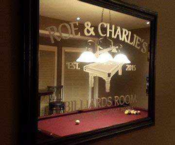 Custom Bar Mirrors & Other Personalized Wall Mirrors