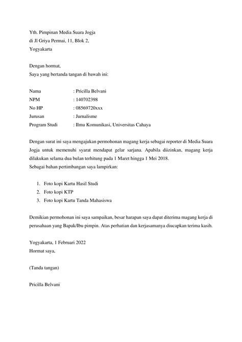 Contoh Resume Mohon Kerja Resume For You