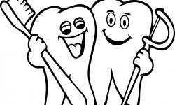 Diş Karton Diş Fırçalama Boyama Sayfası