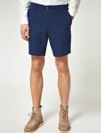 Asos Slim Fit Shorts In Indigo